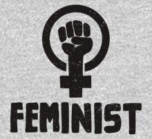Raised Fist Feminist Logo by feministshirts
