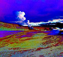 Yellowstone Geyser at Sunrise by Robert Semk