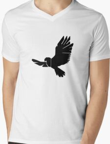DBM Falcon Logo Mens V-Neck T-Shirt