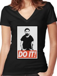 Just Do It! Women's Fitted V-Neck T-Shirt