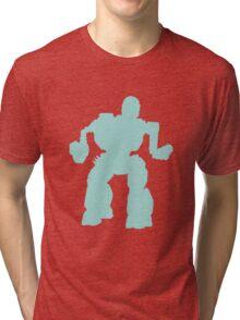 Summoner Battlemech Cyan Tri-blend T-Shirt