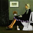 Whistler's Mother On The Toilet by Chris Johnson