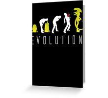 Evolution of Alien Funny Sci-Fi Greeting Card