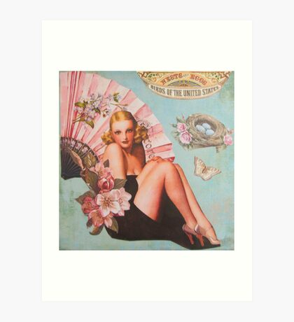 Pinup Girls: Birds & Nests Art Print