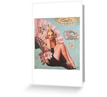 Pinup Girls: Birds & Nests Greeting Card
