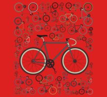Love Fixie Road Bike One Piece - Long Sleeve