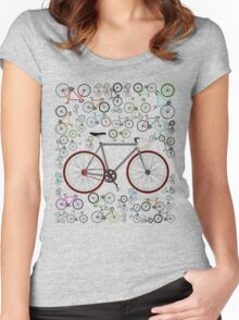 Love Fixie Road Bike Women's Fitted Scoop T-Shirt