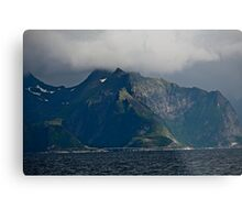 From the deck of the ferry you will have a perfect view of the Lofoten Islands. 2012 . by Andy Brown Sugar. Metal Print