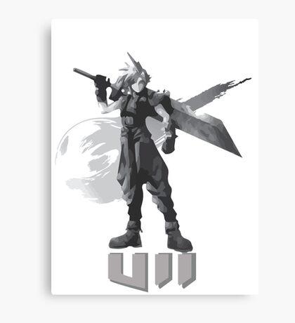 Final Fantasy VII Cloud Shirt Canvas Print