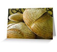 Freshly Baked Breads Greeting Card