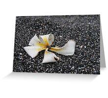 Black Sand Plumeria Greeting Card