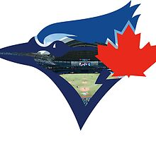 Toronto Blue Jays Stadium Logo by Jacob Sorokin