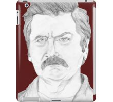 Ron Swanson Pencil Portrait iPad Case/Skin