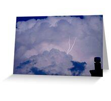 Lightening strikes Greeting Card