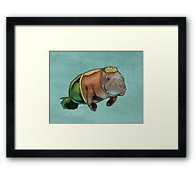 Aquamanatee Framed Print