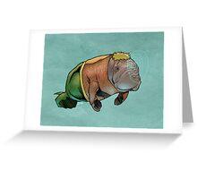 Aquamanatee Greeting Card