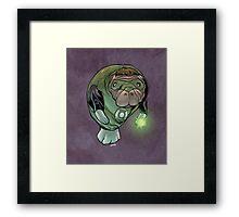 Green Lantern Manatee Framed Print