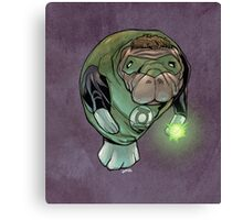 Green Lantern Manatee Canvas Print