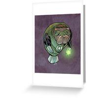 Green Lantern Manatee Greeting Card