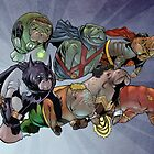 Justice League of Manatees by jomiha