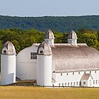 Huge White Barn in Michigan by Kenneth Keifer