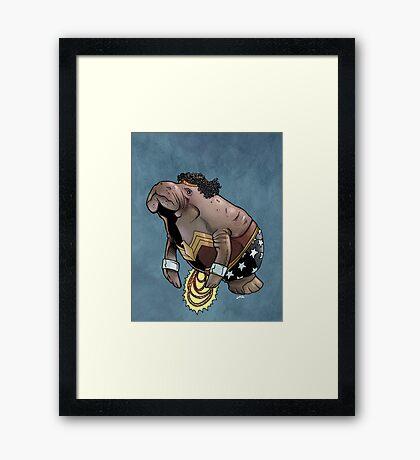 Wonder Womanatee SALE! Framed Print