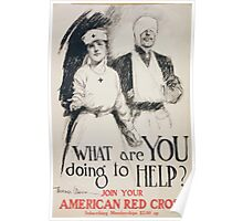 What are you doing to help Join your American Red Cross Poster