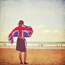 An englishman on the beach by Lyn  Randle