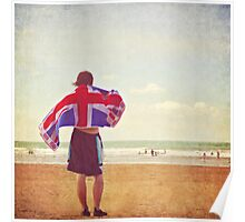 An englishman on the beach Poster