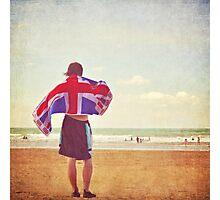 An englishman on the beach Photographic Print