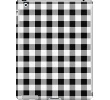 Black Buffalo Plaid iPad Case/Skin