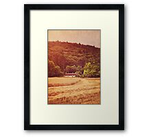 The cottage at the edge of the wood Framed Print