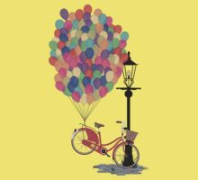 Love to Ride my Bike with Balloons even if it's not practical. Kids Tee