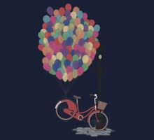 Love to Ride my Bike with Balloons even if it's not practical. One Piece - Short Sleeve