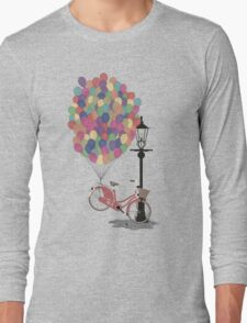 Love to Ride my Bike with Balloons even if it's not practical. Long Sleeve T-Shirt