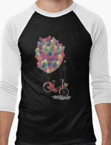 Love to Ride my Bike with Balloons even if it's not practical. Men's Baseball ¾ T-Shirt