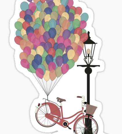 Love to Ride my Bike with Balloons even if it's not practical. Sticker