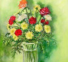 Birthday Flowers by Randy  Burns