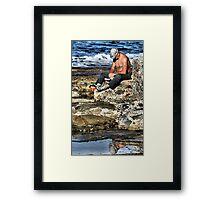 Relaxing - Newcastle Baths NSW Australia Framed Print