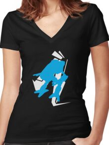Mad Dog Graphic Tee Women's Fitted V-Neck T-Shirt