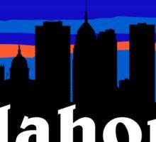 Oklahoma city. Amazing sunset skyline collection Sticker