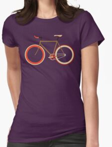 Bike ~ Fixie Warm Fall Colors Womens Fitted T-Shirt
