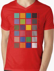 Photographer's Color Checker tee Mens V-Neck T-Shirt