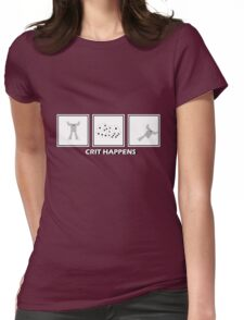 Crit Happens - Firemoth Edition Womens Fitted T-Shirt