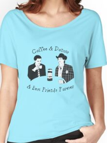 Twin Peaks - Sheriff Harry and Agent Cooper Women's Relaxed Fit T-Shirt