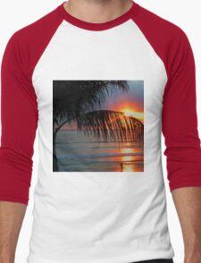 Bali Summer Sunset & Surf Men's Baseball ¾ T-Shirt