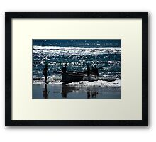 Surf Boat And Crew #2 Framed Print