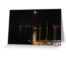 Moonlight over Charleston Harbor Greeting Card