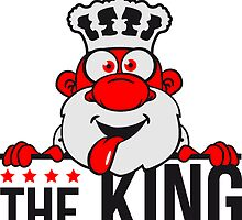 the king chef cool party funny comic cartoon by Style-O-Mat