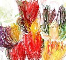 Organza Tulips by ArtAnew